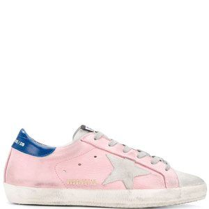 GOLDEN GOOSE PINK SUPER STAR SNEAKERS 36 NIB